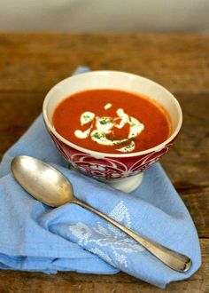 tomato soup never looked so good.