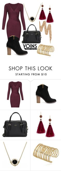 """""""yoins"""" by newilliams-i ❤ liked on Polyvore featuring Kate Spade and Urban Decay"""