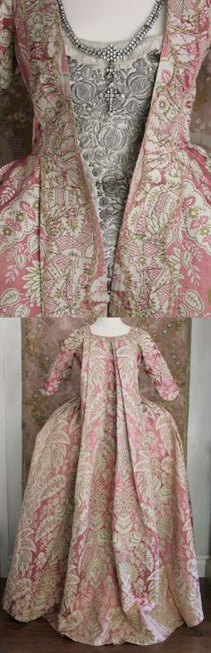 Early 18thC saque back gown via Trouvais (link to actual gown is broken because it has sold)