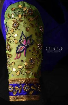 All Ethnic Customization with Hand Embroidery & beautiful Zardosi Art by Expert & Experienced Artist That reflect in Blouse , Lehenga & Sarees Designer creativity that will sunshine You & your Party Worldwide Delivery. Zardosi Embroidery, Hand Work Embroidery, Embroidery Fashion, Embroidery Designs, Wedding Saree Blouse Designs, Saree Blouse Neck Designs, Fancy Blouse Designs, Blouse Patterns, Maggam Work Designs