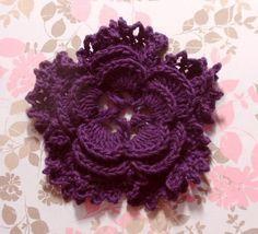 bpurple crochet flowers - Google Search
