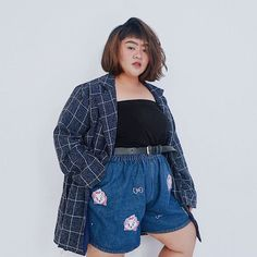 Curvy Girl Outfits, Plus Size Outfits, Casual Outfits, Fashion Outfits, Fat Girl Fashion, Chubby Fashion, Alternative Outfits, Alternative Fashion, Plus Size Street Style