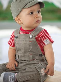 Love overalls! Too bad my son doesn't...