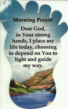 Morning prayer...