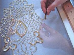 Tambour Beading workshop. Tambour Beading is a professional hand beading technique that is performed with a hook in a holder. This holds a shortened French Cornelli needle, and is used to bead onto fabric that is stretched over a frame.  Samples and demonstration of the art of Tambour Beading are done in French Haute Couture Embroidery at Lesage in Paris. This is the technique used to embellish couture garments for the fashion industry in Paris.