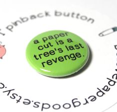 1 Button  Pinback or Magnet  Your Choice  a by BelievePapergoods, $1.50