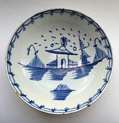 Adams Astbury? Very Rare Marked Pearlware Small Bowl Or Saucer circa 1780