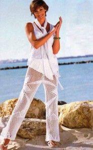 pantalones tejidos de playa