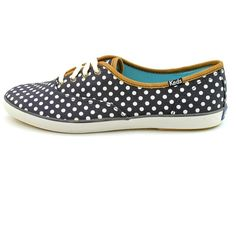 Keds CH Dot Women Sneakers ($22) ❤ liked on Polyvore featuring shoes, sneakers, blue, keds footwear, grip shoes, blue shoes, synthetic shoes and polka dot sneakers