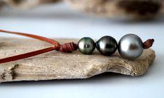 Trio de perles de Tahiti veritable ras de cou femme par PerlaMundi