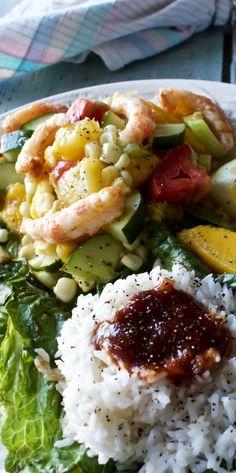 Grilled shrimp Mango Salad