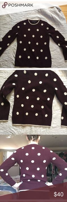Brooks Brother Sweater Brooks Brother Sweater size Medium with purple with white polkadots pattern Brooks Brothers Sweaters Crew & Scoop Necks