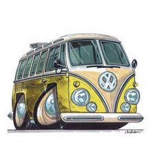 Cartoon vw bus