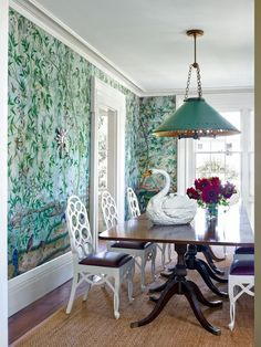 Traditional Dining Room by Harry Heissmann and Jonathon Parisen in Hudson Valley, NY