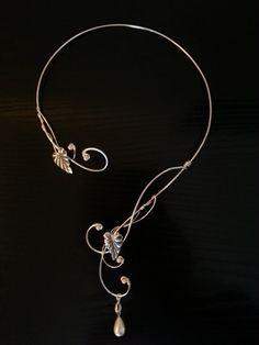 Mittelalterlichen Renaissance reif Torques Silber Halskette