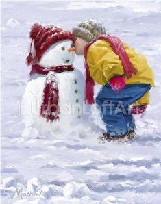 illustrations de richard mcneil - Page 5 Christmas Scenes, Christmas Pictures, Christmas Art, Winter Christmas, Vintage Christmas, Winter Images, Winter Pictures, Image Halloween, Illustration Noel
