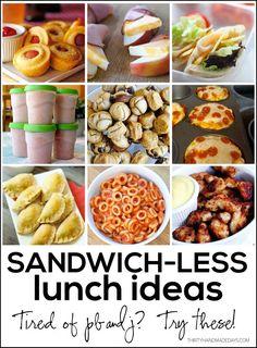 Sandwich-less Lunch Ideas