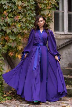 Muslim Fashion, Modest Fashion, Hijab Fashion, Fashion Dresses, Ladies Fashion, Dress Robes, Kimono Dress, Pretty Dresses, Beautiful Dresses