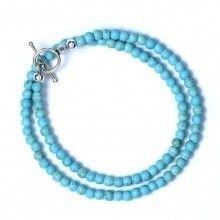 Magnesite Turquoise & Sterling Silver Bracelet www.jewelya.com