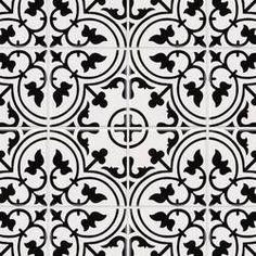 EliteTile Melody Artea x Porcelain Mosaic Tile Color: White Tile/Black Pattern Stone Mosaic, Stone Tiles, Mosaic Glass, Mosaic Tiles, Wall Tiles, Mosaics, Patchwork Tiles, Best Floor Tiles, Ceramic Subway Tile
