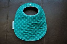 Teal Dots Drool Bib by SpoonerSistersDesign on Etsy, $10.00 Bibs, Teal, Gift Ideas, Trending Outfits, Unique Jewelry, Handmade Gifts, Vintage, Kid Craft Gifts, Burp Cloths