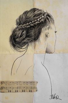 """Saatchi Online Artist Loui Jover; Drawing, """"she knows well"""" #art"""