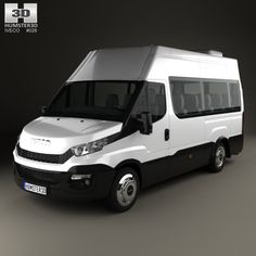 6aba248377 Iveco Daily Minibus 2014. Fully editable and reusable 3D model of a car.