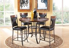 picture of Gainesville Metal 5 Pc Counter Height Dining Set with Wood Top  from Dining Room Sets Furniture