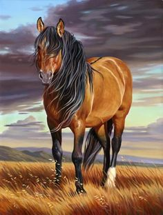 'Mustang Majesty' - horse painting by Nancy Davidson. /Absolutely love this, what a fantastic job EL./