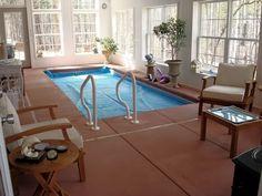 Bathroom Spa Indoor Pools 25 Ideas For 2019 Small Indoor Pool, Small Pools, Indoor Swimming Pools, Hot Tub Room, Four Seasons Room, 4 Season Room, Pool Spa, Beach Pool, Spa Design