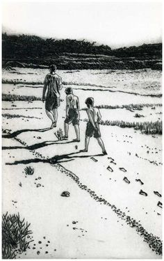 Buy an etching print In My Father's Footsteps from a ltd edition of 50 prints by British printmaker Martin Ridgwell. For Arts Sake - art prints online. Chris Ofili, Etching Prints, Art Terms, Art Prints Online, Past Present Future, A Level Art, Gcse Art, Book Projects, Drawing People