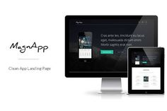 MagnApp | App Landing Page Template by HautCreative on @creativework247