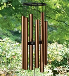 Bells of Paradise: Add harmonious music to your garden. These gorgeous bronze chimes work with the wind to create gentle, restful tones. #MenusAndMusic