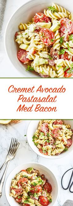 Cremet avocado pastasalat - Take A Bite - lovely pins Avocado, Food N, Food And Drink, Tasty Dishes, Food Inspiration, Bacon, Lunch, Healthy Recipes, Cooking
