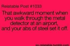 Haha thts happened to me before!