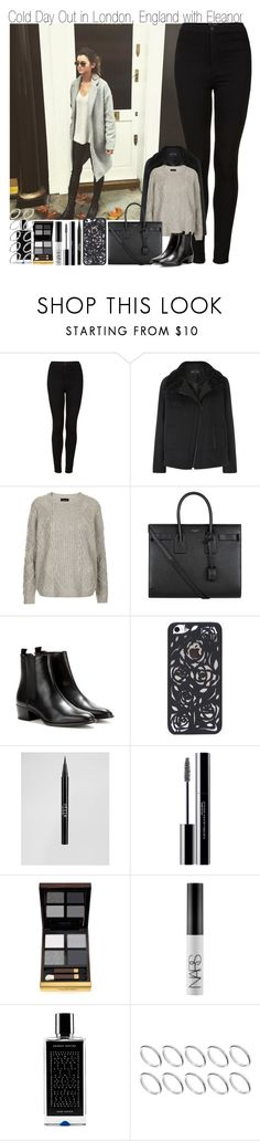 """""""Cold Day Out in London with Eleanor"""" by elise-22 ❤ liked on Polyvore featuring Calder, Topshop, Proenza Schouler, Yves Saint Laurent, Stila, shu uemura, Tom Ford, NARS Cosmetics, Agonist and ASOS"""