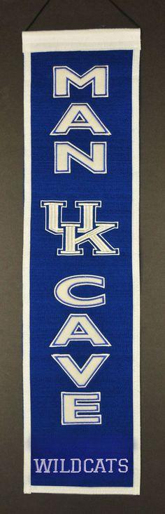 ~Kentucky Wildcats Banner Wool Man Cave~backorder