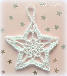 Très jolie étoile en crochet avec son TUTO !                                                                                                                                                                                 Plus
