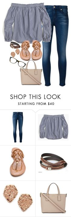 """would you love me for free"" by legitimately-kierstin ❤ liked on Polyvore featuring 7 For All Mankind, J.Crew, Tory Burch, NOVICA, Kendra Scott, Kate Spade and Ray-Ban"