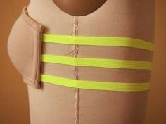 Take an old strapless bra, cut off the back, and sew elastic bands for a new way to wear backless dresses