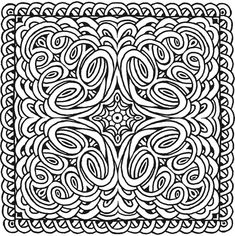 Mandala 428, Square Mandalas Coloring Book, Dover Publications.
