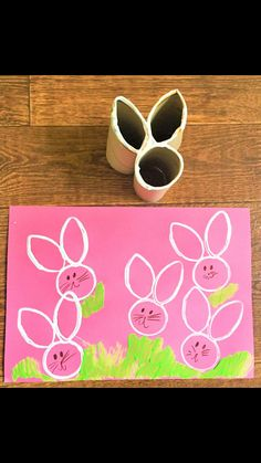 Now, this is cute!! Using toilet paper rolls you can make these adorable bunnies! 💕 Easter Projects, Easter Crafts For Kids, Crafts To Do, Diy Crafts, Easter Ideas, Diy Craft Projects, Craft Activities For Kids, Preschool Art, Easter Activities