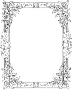 Here's an ornate frame border that comes with a stock vector, PNG and JPEG clip art images.