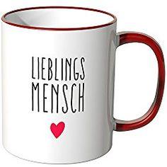 """Wandkings® Tasse, Spruch """"Lieblingsmensch"""" mit kleinem Herzchen, in 11 verschiedenen Farben erhältlich - geschenkefinden.jetzt"""