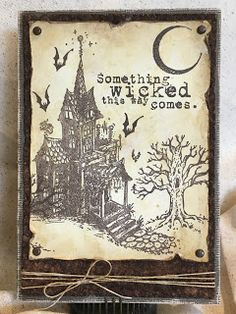 This Haunted House CMS308 stamp set intrigued me when I first saw it...I immediately thought of Ray Bradbury and his Halloween Tree...