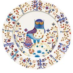 Iittala Taika owl plate, $40; Photo by Robert Mitra #registry