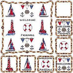 nautical+cross+stitch | nautical includes 16 nautical designs by cross stitch wonders designs ...