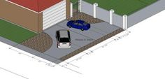 Beautiful Standard Driveway Width 0 What Are Standard Driveway Lengths And Widths? Diy Gym Equipment, L Shaped House, Plans, Poker Table, Swimming Pools, Garage, Layout, Driveway Ideas, Building