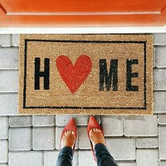 Need this adorable welcome mat from Target! Perfect for Valentin's day or any day of the year! (affiliate)