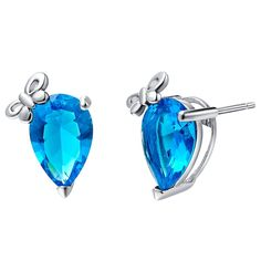 Find More Stud Earrings Information about Butterfly Blue Stone Stud Earrings foe Women Wedding Silver Plated Summer Style Vintage Earring Piercing Ear Ulove R773,High Quality earrings eyebrow,China earings Suppliers, Cheap earring jackets white gold from Ulovestore Jewelry on Aliexpress.com
